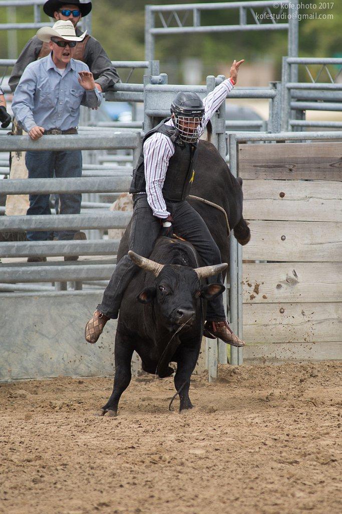 Cracker Day 2017. Bull riding. Michael Dallas