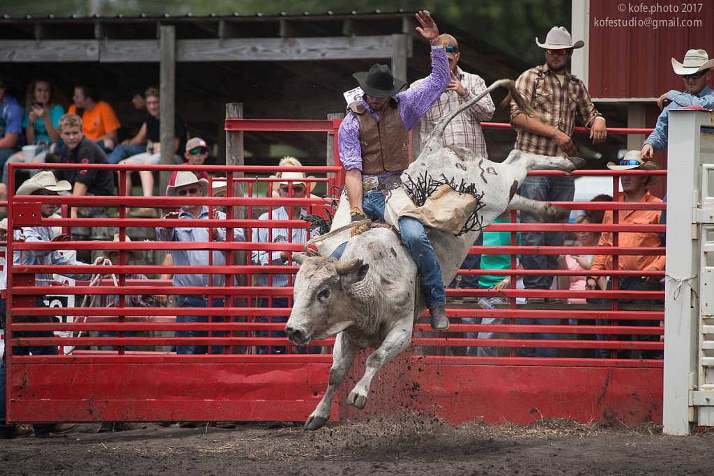 68th Volusia County Cattlemen's Annual Cracker Day.  Bull riding.