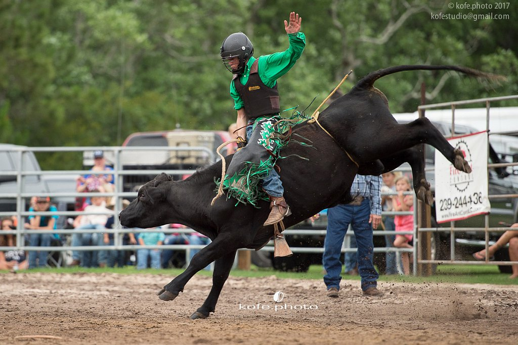 Bulls and Barrels at Stokes GSR Arena. June 2017. Polk City. FL
