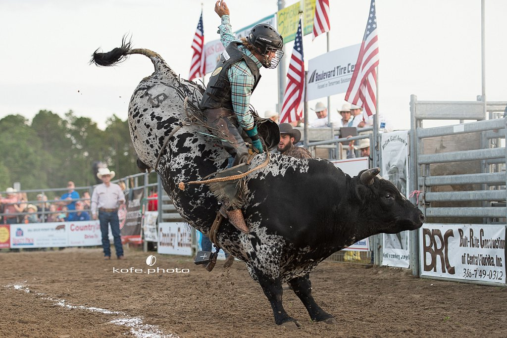 Andrew Holmes. Brian Earl Foster Invitational Bull Riding. Bunnell, FL
