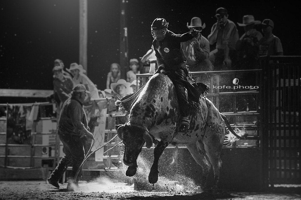 Zack Heimann on Mud Digger. Bulls and Barrels at Stokes GSR Arena. June 2017. Polk City. FL
