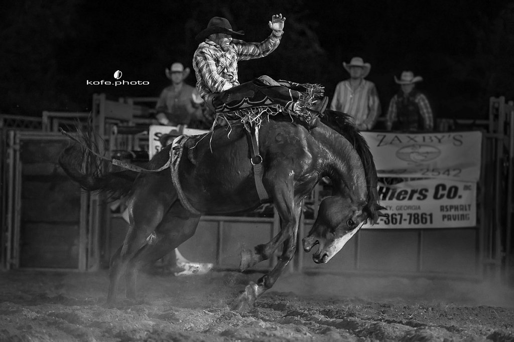 Joe Couriville. Baxley Lions Club Rodeo. September 29th 2017. Bare Back and Saddle Broncs. Baxley Georgia.