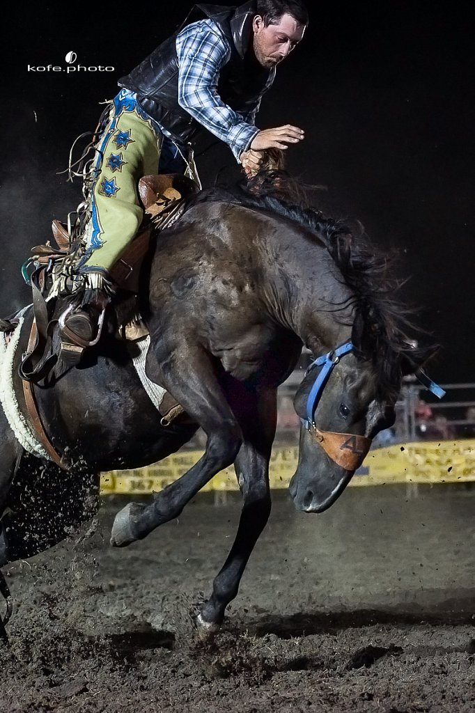 Jeremy Baldwin. Baxley Lions Club Rodeo. September 29th 2017. Bare Back and Saddle Broncs. Baxley Georgia.