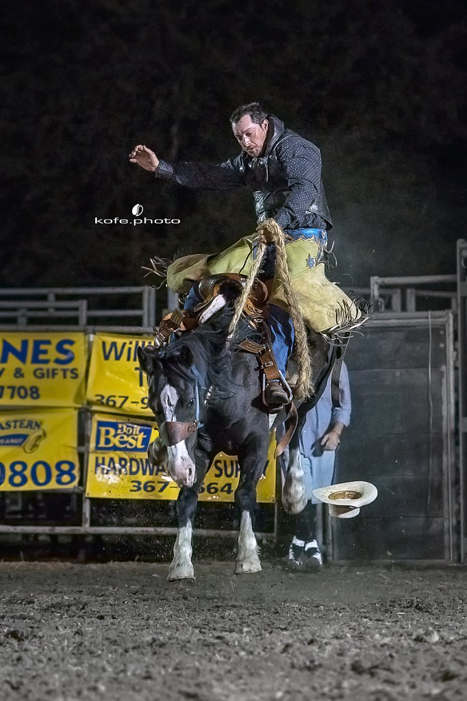 Jeremy Baldwin. Baxley Lions Club Rodeo. September 30th 2017. Bare Back and Saddle Broncs. Baxley Georgia.