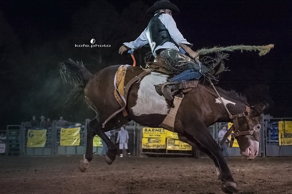 Aj Blaze. Baxley Lions Club Rodeo. September 30th 2017. Bare Back and Saddle Broncs. Baxley Georgia.